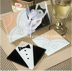 Wedding glass coaster/sh