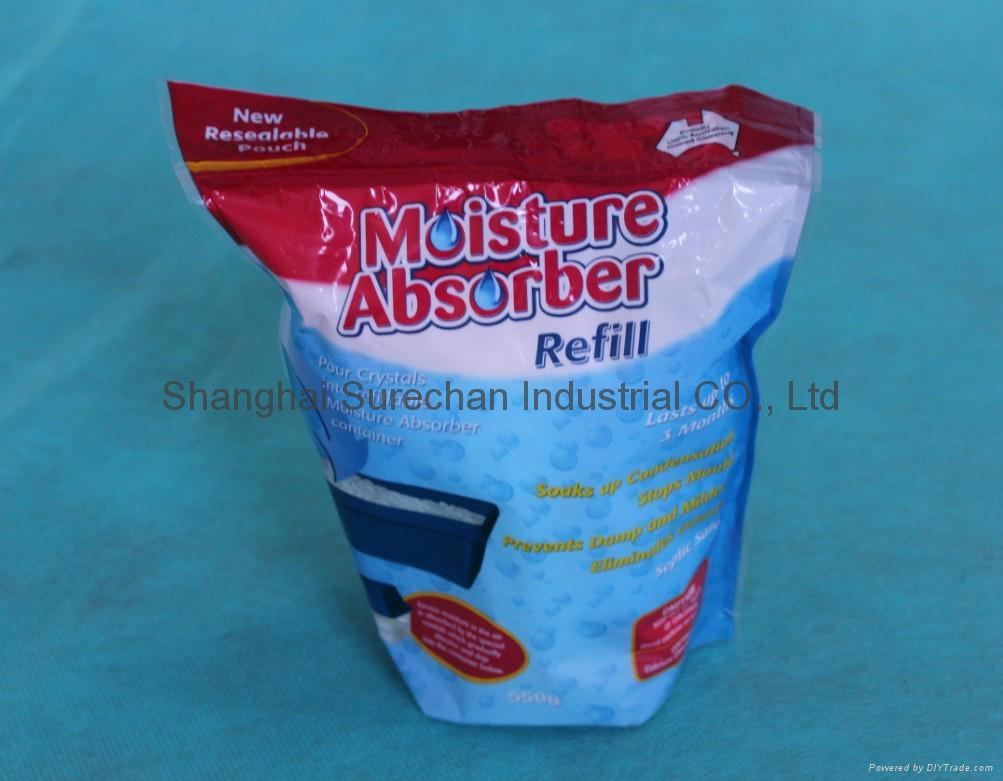 Moisture Absorbing Crystal Refill Pack 450g Pack 3