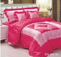 100% polyester embroidered satin comforter 1