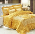 100% polyester embroidered satin comforter 2