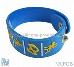 Hip Hop Style Wrap Around silicone Bracelets