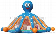 Inflatable playground slide