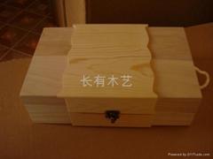 雙支紅酒木盒包裝松木紅酒木盒加工定製