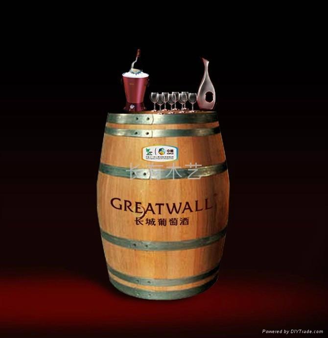 225l红酒橡木桶装饰加工定制
