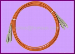 SC to SC duplex multimode fiber optic patch cables