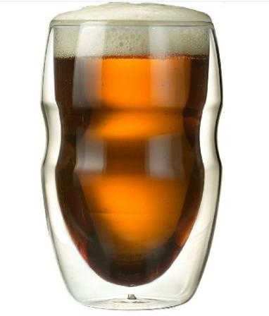 Serafino Double Wall 12 oz Beverage & Coffee Glasses - Set of 2 Insulated Drinki 4