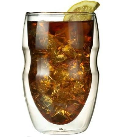 Serafino Double Wall 12 oz Beverage & Coffee Glasses - Set of 2 Insulated Drinki 5