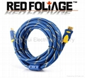 high speed 10ft 3m HDMI cable with dual ferrite cores&nylon mesh