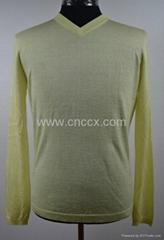 12STC0525 long sleeves dream v-neck sweater