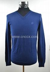 12STC0522 men's long sleeve classic v-neck sweater