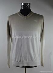 12STC0524 men's long sleeve v-shaped collar sweater