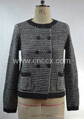 12STC0518 ladies double breasted sweater