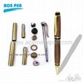 Cigar Pen Kits in Gold+Black Chrome