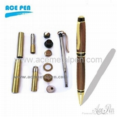 Cigar Pen Kits in Gold+Black Chrome