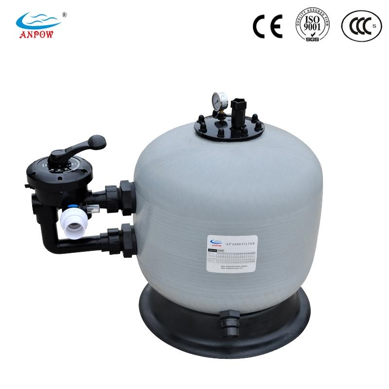 Swimming pool side mount sand filter ss800 anpow china - Swimming pool filter manufacturers ...