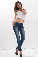 Ladies Zipper Fly Sexy Long Jeans