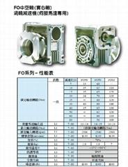 翔伟FO蜗轮减速机(伺服马达专用)