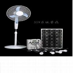 30W太陽能小型家庭照明系統