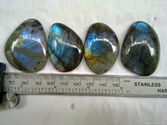 拉长石闪光石光谱石异形自由形戒面配饰天然 厂家批发销售