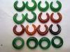 绿色耳环吊坠28*8mm