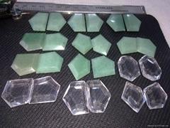 绿东陵白水晶多边形吊牌