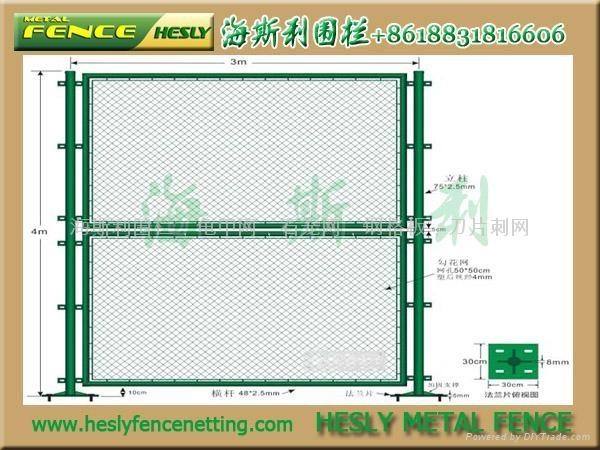 体育场围栏,体育围网,勾花护栏,球场护栏 5