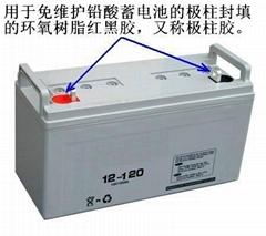 蓄电池用极柱胶
