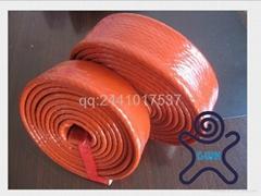 Silicone coated E-fiberglass braided fire sleeve