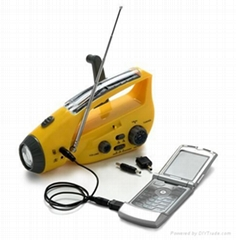 LED solar dynamo radio flashlight manufactures & suppliers