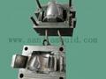 Injection plastic helmet visor/lens mould 2