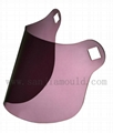 High impact resistant hand made visors