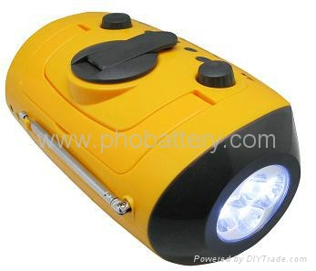 Multifunctional Media Player crank dynamo LED Flashlight 3