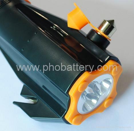 9-in-1 flashlight with Deluxe Car Emergency Tool, Crank dynamo radio waterproof  4