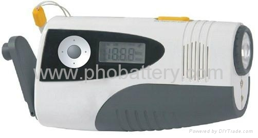 dynamo LED Flashlight with FM/AM radio&Charger for Cellphone 1