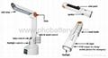 Solar desk Lamp with Radio LED flashlight, Powered by: solar/crank dynamo/PC USB 3