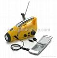 Solar/crank dynamo torch with FM/AM radio, AC dynamo 2