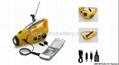 Solar/crank dynamo torch with FM/AM radio, AC dynamo 3