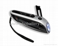 Solar + Crank dynamo torch with FM radio, AC motor 4pcs Ultra-bright LED lights 2