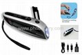 Solar + Crank dynamo torch with FM radio, AC motor 4pcs Ultra-bright LED lights 3