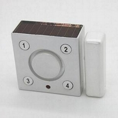 Solar door and window magnet/vibration alarm