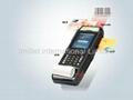 Mobile POS,R   ed Handheld Computer,Industrial PDA,barcode,Thermal printer 3
