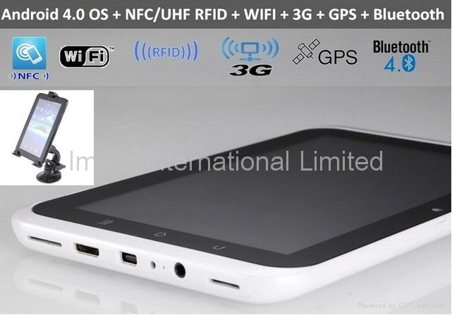 IPS 7 inch android 4.0,13.56Mhz NFC,Mifare,cabs Dispatch, Mobile data terminal 1