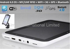 IPS 7 inch android 4.0,13.56Mhz NFC,Mifare,cabs Dispatch, Mobile data terminal