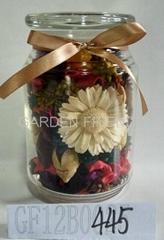 potpourri in glass vase
