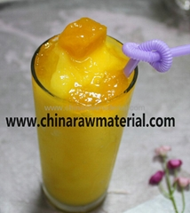 Fresh mango smoothies with fruit jam bubble tea beverage