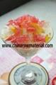 Fruity nata de coco as bubble milk tea