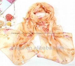 DIGITAL PRINT CHINESE SILK SCARF