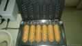 Electric 6 pcs French sausage machine/hot dog bread/ waffle iron