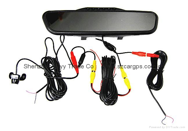 rearview mirror car DVR  + 4.3 inch reverse monitor+ reverse backup camera 4