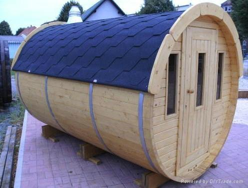 6persons New-designed barrel Sauna room  1